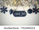 plate  fairy light  god jul...   Shutterstock . vector #731440213