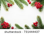 christmas background with xmas...   Shutterstock . vector #731444437