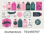 merry christmas and happy new...   Shutterstock .eps vector #731450707