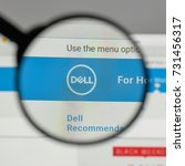 Small photo of Milan, Italy - August 10, 2017: Dell logo on the website homepage.