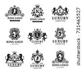 luxury boutique royal crest... | Shutterstock .eps vector #731465527