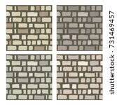 set of stone or brick textures... | Shutterstock .eps vector #731469457
