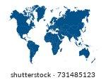 world map | Shutterstock .eps vector #731485123