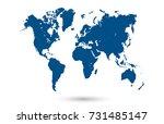 world map | Shutterstock .eps vector #731485147