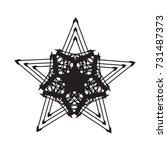 a star as a spider's web  a... | Shutterstock . vector #731487373