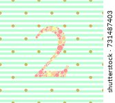 number two from colorful polka... | Shutterstock .eps vector #731487403