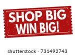 shop big win big grunge rubber... | Shutterstock .eps vector #731492743