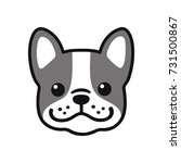 cute cartoon french bulldog... | Shutterstock .eps vector #731500867
