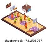 basketball isometric... | Shutterstock .eps vector #731508037