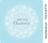 merry christmas greeting card... | Shutterstock .eps vector #731510773