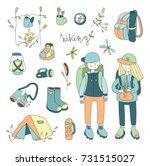 illustration set on the theme... | Shutterstock . vector #731515027