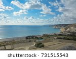 Small photo of View from above at Curium beach, Cyprus