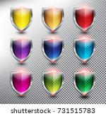collection of 9 blank... | Shutterstock .eps vector #731515783