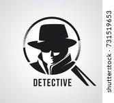detective agent icon. vector... | Shutterstock .eps vector #731519653