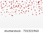 many falling red tiny confetti... | Shutterstock .eps vector #731521963