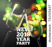 vector new year banner with... | Shutterstock .eps vector #731535637