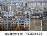 panoramic view of soviet era... | Shutterstock . vector #731536633