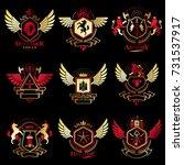 vector vintage heraldic coat of ... | Shutterstock .eps vector #731537917