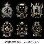 set of vector retro vintage...   Shutterstock .eps vector #731540173