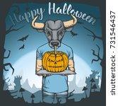 vector illustration of bull...   Shutterstock .eps vector #731546437