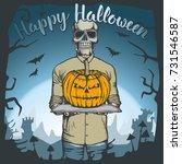 vector illustration of skull...   Shutterstock .eps vector #731546587