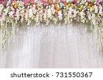 flower backdrop wedding