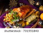 christmas goose | Shutterstock . vector #731551843