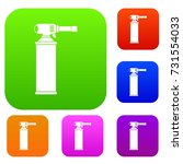 gas cylinder set icon color in... | Shutterstock .eps vector #731554033