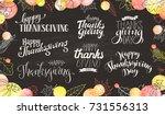 thanksgiving wording on... | Shutterstock .eps vector #731556313