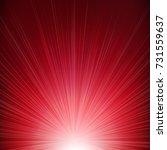 red sunburst background  | Shutterstock . vector #731559637