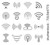 wifi logo vector elements.... | Shutterstock .eps vector #731564773