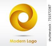 modern golden yellow infinity... | Shutterstock .eps vector #731572387