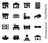 16 vector icon set   shop ... | Shutterstock .eps vector #731595073