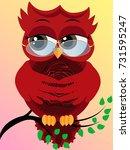 cute beautiful flirtatious red... | Shutterstock .eps vector #731595247