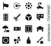 16 vector icon set   flag  cell ...   Shutterstock .eps vector #731596087