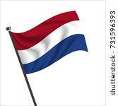 netherland flag. netherland... | Shutterstock .eps vector #731596393
