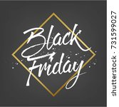 abstract vector black friday... | Shutterstock .eps vector #731599027