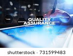 quality assurance concept on... | Shutterstock . vector #731599483