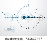 mechanical scheme  vector... | Shutterstock .eps vector #731617447