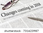 Small photo of A newspaper with the headline Changes coming in 2018