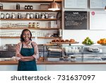 portrait of a smiling young...   Shutterstock . vector #731637097