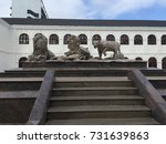 lion and tiger statue | Shutterstock . vector #731639863