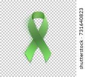 green ribbon on transparent... | Shutterstock .eps vector #731640823