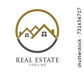 real estate logo design | Shutterstock .eps vector #731656717