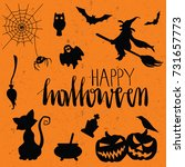 halloween vector elements... | Shutterstock .eps vector #731657773