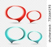 red and blue frame tag discount ...   Shutterstock .eps vector #731664193
