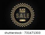 creative black friday sale... | Shutterstock .eps vector #731671303