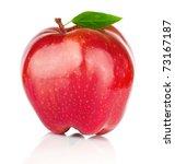 fresh red apple on white...   Shutterstock . vector #73167187