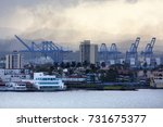 the view of colon port town... | Shutterstock . vector #731675377