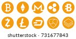 cryptocurrency icons set for... | Shutterstock .eps vector #731677843
